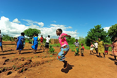 MWI-Ntcheu-1203-024-v1 (anthonyasael) Tags: africa unicef school girls boy people playing black game boys girl smile smiling horizontal kids rural children fun happy kid jumping community village child african centre happiness bluesky games rope malawi afrika leisure entertain childcare southernafrica cbcc childrenonly makokola ntcheu anthonyasael unicefprogram makokolacommunitybasedchildcarecentre