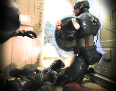 The Power of the Shield (Dudesnbots) Tags: america cobra n battle joe troopers captain dudes bots android bats gi avengers overkill technoviper laserviper dudesnbots