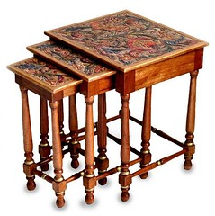 """2122. Wood and leather tables """"Three in One"""" (Alpaca wool and fur apparel) Tags: wood leather tables threeinone"""