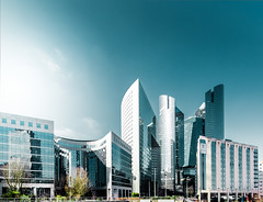 La Defense 5 (Philipp Gtze) Tags: sun paris glass architecture modern buildings office district ladefense