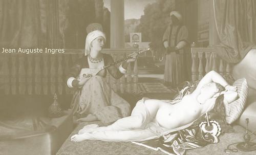 """Genealogía de las Soñantes, versiones de Lucas Cranach el Viejo (1534), Giorgione (1510), Tiziano Vecellio (1524), Nicolas Poussin (1625), Jean Auguste Ingres (1864), Amadeo Modigliani (1919), Pablo Picasso (1920), (1954), (1955), (1961). • <a style=""""font-size:0.8em;"""" href=""""http://www.flickr.com/photos/30735181@N00/8746825347/"""" target=""""_blank"""">View on Flickr</a>"""