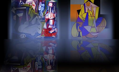 """Odaliscas (Mujeres de Argel) yuxtaposición y deconstrucción de Pablo Picasso (1955), síntesis de Roy Lichtenstein (1963). • <a style=""""font-size:0.8em;"""" href=""""http://www.flickr.com/photos/30735181@N00/8746884561/"""" target=""""_blank"""">View on Flickr</a>"""