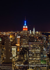 Empire State Building at Night (ClintfromCanada) Tags: newyork night flickr unitedstates empirestatebuilding