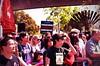 #FrankChu at Cherry Blossom Parade 2013 (Steve Rhodes) Tags: frankchu uploaded:by=flickrmobile flickriosapp:filter=orangutan orangutanfilter cherryblossomfestival2013