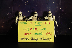 The Stormies Are NOT Amused (ShellyS) Tags: starwars flickr stormtroopers actionfigures unhappiness