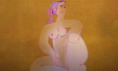"Mujer Sentada, geometrización de Pablo Picasso (1953), abstracción de Roberto Real de León (2013). • <a style=""font-size:0.8em;"" href=""http://www.flickr.com/photos/30735181@N00/8805320607/"" target=""_blank"">View on Flickr</a>"