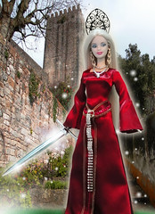 Lady of the Sword (possiblezen) Tags: lady arthur store doll theater king dress little goddess mother barbie disney arctic swords exclusive gothel