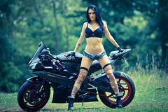 IMG_6673 (ArthodStudio) Tags: girls woman sexy bike female femme models greeneyes motorbike babes moto motorcycle yamaha canon5d r6 modèle seniora modélo