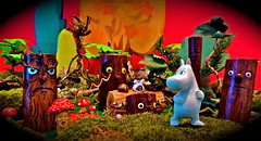 a shortcut through the woods (Mister Mushroom) Tags: trees mushroom forest toy mushrooms toys haunted moomin muumi troll dots moomins moominvalley kobito toysunday judibird moomintrill