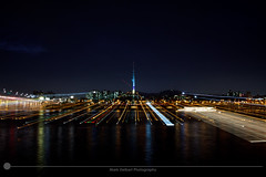 Namdaemun Tower (MarkDeibertPhotography) Tags: water night lights zoom korea seoul southkorea hanriver nseoultower namdemuntower