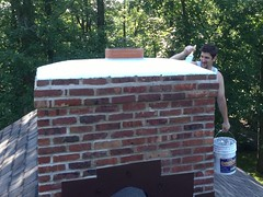 "Chimney Crown Repair • <a style=""font-size:0.8em;"" href=""http://www.flickr.com/photos/76001284@N06/9107644144/"" target=""_blank"">View on Flickr</a>"