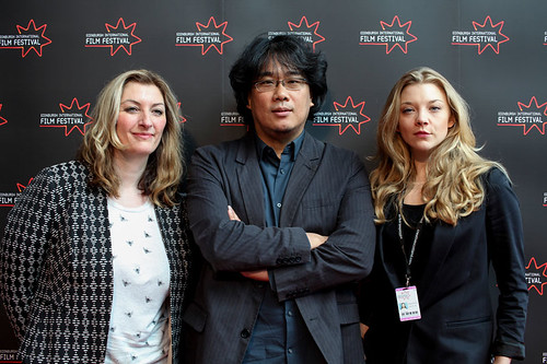 Siobhan Synnot, Bong Joon-Ho and Natalie Dormer at the International Feature Jury Photocall