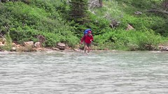 movie: crossing the Cosley Lake outlet (jcoutside) Tags: montana backpacking glaciernationalpark