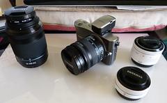 Samsung NX100, 18 - 55mm lens & EVF Attached (Nik Morris (van Leiden)) Tags: camera samsung csc nx nx100 compactcamerasystem
