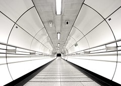 The final frontier approaching...... (Mister T') Tags: blackandwhite bw london underground vanishingpoint circles empty tube wide perspective sigma tunnel thefinalfrontier finalfrontier flickrfriday