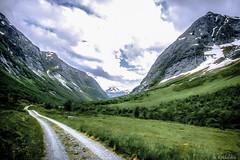 Heavanly Highway (ErlandG) Tags: road winter summer mountain snow green norway landscape europe hills scandinavia westernnorway