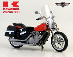 version with bags and windshield (LegoMarat) Tags: lego technic chrome motorcycle vulcan kawasaki modelteam moc vn800