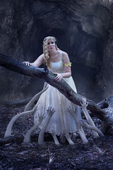 Welcoming party (Rachel.Adams) Tags: portrait souls forest photoshop dark dead outside greek photography hands pretty goddess creepy undead cave underworld goddesses persephone hades greekgod greekmyth greeklegend demeterandpersephone persephoneanddemeter