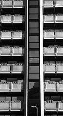 new building near the Meadows 06 (byronv2) Tags: blackandwhite bw building monochrome architecture scotland blackwhite edinburgh meadows structure modernarchitecture tollcross lauriston