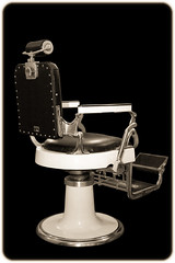 Sepia-toned Antique Barber's Chair Isolated on Black (Craig Jewell Photography) Tags: haircut black monochrome sepia iso3200 chair antique seat australia oldschool retro barbershop era 40 toned f28 isolated backandwhite oldfashioned 2013 0ev barbershopchair sec canoneos1dmarkiv ef40mmf28stm 335211s1511221e filename20130912205920x0k0274edittif