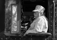 Conductor on CP 2024 (Mathieu Tremblay) Tags: park railroad heritage railway days steam locomotive chemin fer 060