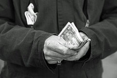 All in a days work. (local paparazzi (isthmusportrait.com)) Tags: blackandwhite bw musician music money texture beer night dinner canon is bacon pod hands artist dof bills zoom cut iso400 coat nail fingers joy working happiness ring sharp jacket meal zipper keep fingernails torn weathered 100 folded usm af madisonwi busker pocket custom setting ef f4 cracked scars knuckles counting count stacks tattered pointed 1100 wrinkled autofocus notmuch earnings 105mm isthmus 24105mm 2013 starvingartist makingmoney coatpocket danecountywisconsin customblackandwhite photoshopelements7 canon5dmarkii pse7 localpaparazzi redskyrocketman lopaps canon24105mmf4isefusmaf