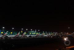 DXB Traffic (oharran) Tags: morning sky 3 night dark early airport dubai terminal clear emirates international airbus boeing airlines dxb b777 b777300er