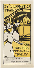 By broomstick train, our suburbs afoot and by trolley (Boston Public Library) Tags: people prints streetrailroads bookmagazineposters