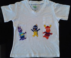 Backyardigans em patchaplique! (Cantinho do Patch by Talissa) Tags: austin pablo patchwork camiseta tyrone blusa backyardigans patchaplique