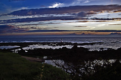 Coastal Lighthouse at dusk, Sado Island  (Anaguma) Tags: japan niigata sado hokuriku sadogashima lpsky