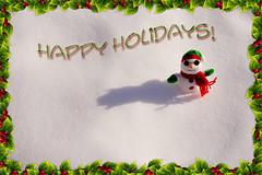 Happy Holidays!  Joyeuses Ftes! (Chizuka2010 (*playing catch up*)) Tags: christmas snow snowman holidays noel neige happyholidays cooldude
