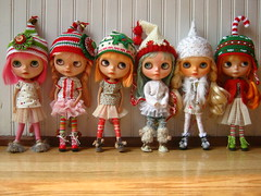 "IMG_1505....""Okay girls...time for you to line up for your Christmas photo!""  From left to right, Amor, Zuzu, Dove, Opal, Rain, Rory.  Merry Christmas!"