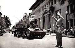 Martial Chariot-1942 Honolulu (Norris Sperry) Tags: tank stuart armor ww2 1942 m3 bishopstreet lighttank m3stuart usarmor ww2americantank