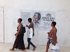 Tribute Wall to Mandela (Vaughanoblapski!) Tags: wall shopping centre tribute mandela cresta uploaded:by=flickrmobile flickriosapp:filter=nofilter