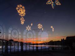 DSC_5815 (Christina Nalio) Tags: snowflake winter sunset sky orange snow reflection asburypark carousel jerseyshore hercules wesleylake