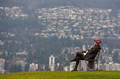 'Vancouver Zen and Now' (Canadapt) Tags: woman vancouver bench meditate britishcolumbia zen stanleypark contemplate westvancouver canadapt