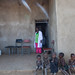Meseret Dirrector of Alkatekach primary school stands outside her office