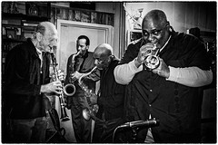 jazz at it's best (michael baumann) Tags: music newyork bar harlem manhattan dive trumpet jazz saxophone clarinet 2014 jazzbar jazzphoto blowingaway parisblues michaelbaumann harlemjazz newyorkjazz lesgoodson parisbluesharlem