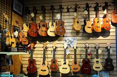 Ukeleles (mcshots) Tags: california wood music usa beauty coast stock selection socal hawaiian strings mcshots instruments southbay sounds ukelele losangelescounty kahanamokusswimboat ukekleles