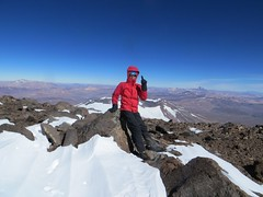 On the Gendarmeria Argentina summit of Pissis (6690m)