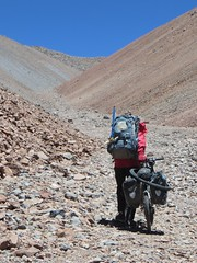 The long push to the 5650m pass on the east flanks of Pissis