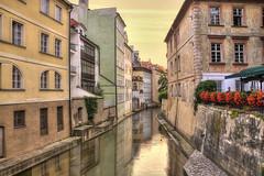 A Canal in Prague (Meleah Reardon) Tags: people tourism beautiful sunrise photography canal nikon prague no relaxing calming quarter magical lesser d90