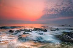 Waves of Pandak (Farizun Amrod Saad) Tags: tourism rocks waves stones malaysia terengganu ombak sigma1020 labcolor hoyacpl cendering adoberaw pandak pantaipandak eos70d rgndsinghray adobephotoshopcs6 luminosityblending