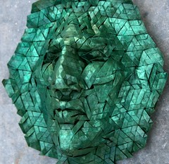 goliath 3 (origami joel) Tags: face paper origami mask joel cooper tessellation origamijoel