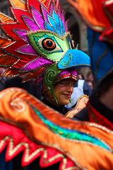 Bremer Samba Karneval: Paradisvogel (Maxi Winter) Tags: carnival people woman birds germany costume beak parade bremen cloth frau satin vgel vogel karneval schnabel mensch stoffe kostm exoticbirds exotischevgel bremersambakarneval