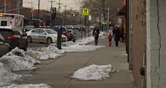 corner sidestreet (Robert S. Photography) Tags: street winter people snow newyork colour cars brooklyn corner fastfood nypd samsung firedept flatbushave sidestreet 2014 st150f