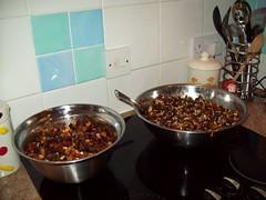 christmas cake and mincemeat mix (Josie *) Tags: cherries raisins rum suet driedfruit mincemeat currants christmascakemix soakedfruit