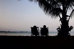 The Souk (' Ian Charles ') Tags: seascape beach thailand chairs souk koh silhoutte chang