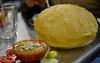 Chola Bhatura - at Darshan (Love the puffed up bhatura here) (Mayur Indian restaurant Taipei) Tags: food india pune darshan chola bhatura batura choley