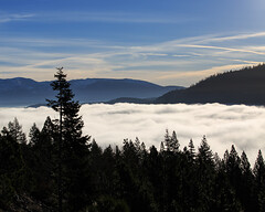 Cloud Lake (b_dc) Tags: california trees winter lake snow mountains water horizontal fog clouds canon landscape photo tahoe valley vista 5d interstate i80 donner 5d3 5dm3 5diii 5dmiii